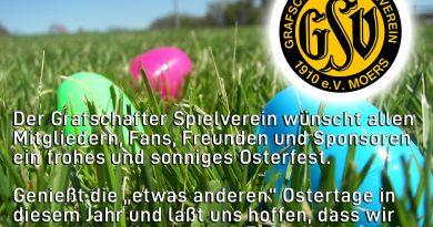 GSV Moers: Sonnige Ostergrüße!!!